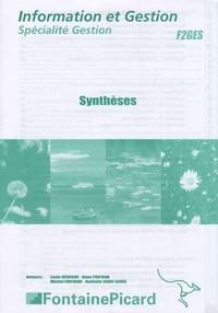 Louis Déroche et Anne Fontana - Information et Gestion spécialité Gestion - Synthèses.