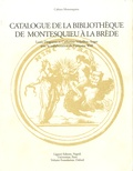 Louis Desgraves et Catherine Volpilhac-Auger - Catalogue de la bibliothèque de Montesquieu à La Brède.