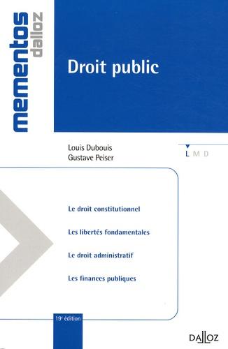 Droit public 19e édition