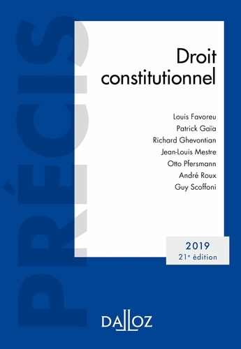 Droit constitutionnel 2019
