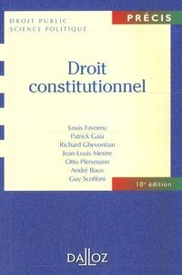 Louis Favoreu et Patrick Gaïa - Droit constitutionnel.