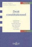 Louis Favoreu et Richard Ghevontian - Droit constitutionnel.
