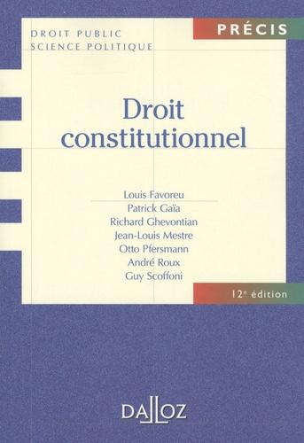 Droit constitutionnel 12e édition