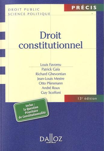 Droit constitutionnel 13e édition