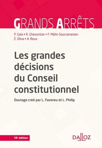 Les grandes décisions du Conseil constitutionnel 19e édition