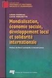 Louis Favreau - Mondialisation, économie sociale, développement local et solidarité internationale.