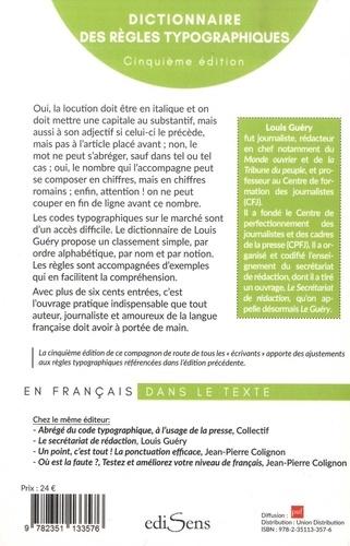 Dictionnaire des règles typographiques 5e édition