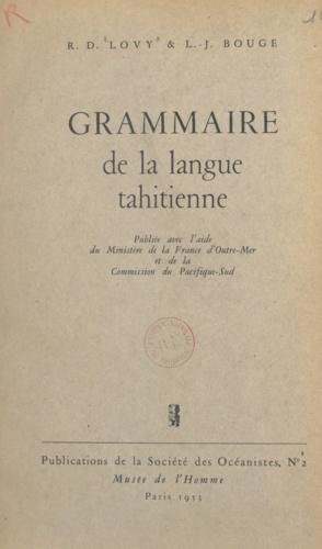 Grammaire de la langue tahitienne