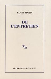 Louis Marin - De l'entretien.