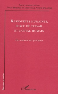 Louis Marmoz et Véronique Attias-Delattre - Ressources humaines, force de travail et capital humain - Des notions aux pratiques.