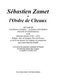 Louis-Narcisse Prunel et Paul Melchior - Sébastien Zamet et l'Ordre de Cîteaux - tiré à part.