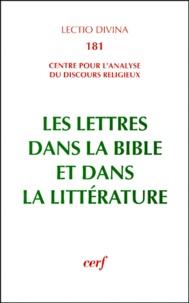 Louis Panier - Les Lettres dans la Bible et dans la littérature - Actes du colloque de Lyon (3-5 juillet 1996).