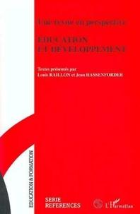 """Louis Raillon et Jean Hassenforder - """"Éducation et développement"""" - Une revue en perspective."""