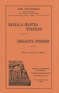 Louis Renou - Baskala-Mantra Upanishad / Chagaleya Upanishad.