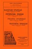 Louis Renou - Kausitaki Upanisad, Svetasvatara Upanisad, Prasna Upanisad, Taittiriya Upanisad - Tomes 6 à 9.