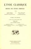 Louis Renou - L'Inde classique - Tome 1, Manuel des études indiennes.