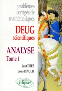 Deedr.fr PROBLEMES CORRIGES DE MATHEMATIQUES. Tome 1, Analyse, DEUG scientifiques Image