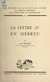 Louis Roussel - La lettre N en hébreu.