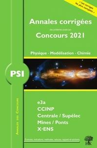 Louis Salkin et Alexandre Hérault - Annales des concours 2021 - PSI physique modélisation et chimie.