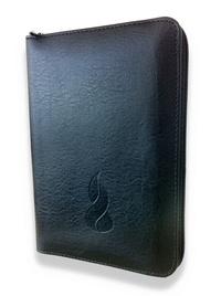 Louis Segond - La Sainte Bible - Nouvelle édition de Genève 1979, relié souple, fibrocuir noir, fermeture éclair, tranches or.