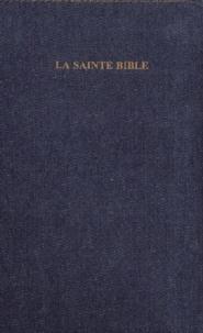 Louis Segond - La Sainte Bible - Couverture en jean avec onglets, tranche or.