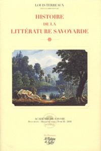 Louis Terreaux - Histoire de la littérature savoyarde.