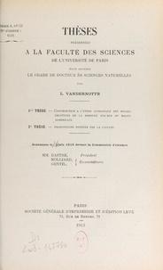 Louis Vandernotte - Contribution à l'étude géologique des roches éruptives de la bordure sud-est du massif armoricain - Thèse présentée à la Faculté des sciences de l'Université de Paris pour obtenir le grade de Docteur ès sciences naturelles.