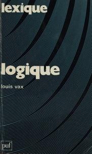 Louis Vax - Logique.