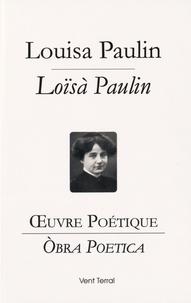 Louisa Paulin - Oeuvre poétique.