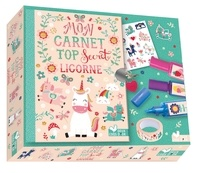 Louise Anglicas - Coffret Mon carnet top secret licornes - Avec 1 planche de stickers pour décorer son carnet, 3 surligneurs licornes colorés, 1 rouleau de masking tape, 1 cadenas et 2 clés pour mettre à l'abri ton carnet.