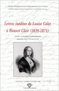 Louise Colet - Lettres inédites de Louise Colet à Honoré Clair (1839-1871).