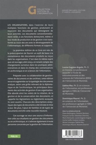 Typologie des documents des organisations. De la création à la conservation 2e édition