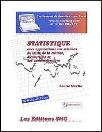 Galabria.be Statistique avec applications aux sciences du loisir, de la culture, du tourisme et des communications. Avec CD-ROM Image