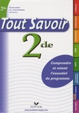 Louise Taquechel et Raja Siblini - Tout savoir 2e.