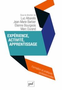 Luc Albarello et Jean-Marie Barbier - Expérience, activité, apprentissage.