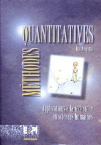 Luc Amyotte - Méthodes quantitatives - Applications à la recherche en sciences humaines.