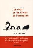 Luc de Brabandere - Les mots et les choses de l'entreprise.