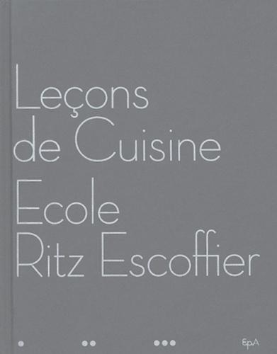 Luc de Champris et  Ecole Ritz-Escoffier - Leçons de cuisine - Ecole Ritz Escoffier.