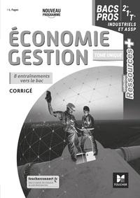 Luc Fages - Economie-gestion 1re Tle Bac pro Ressources Plus - Corrigé.