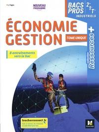 Luc Fages - Economie-Gestion 2de 1re Tle Bac Pro Ressources Plus - Livre élève.