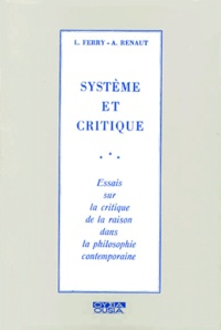 SYSTEME ET CRITIQUE. - Essais sur la critique de la religion dans la philosophie contemporaine.pdf