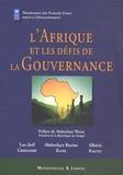 Luc-Joël Grégoire et Abdoulaye Racine Kane - L'Afrique et les défis de la Gouvernance.