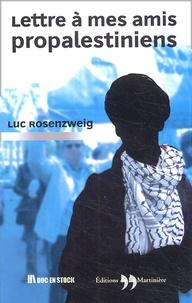 Luc Rosenzweig - Lettre à mes amis propalestiniens.