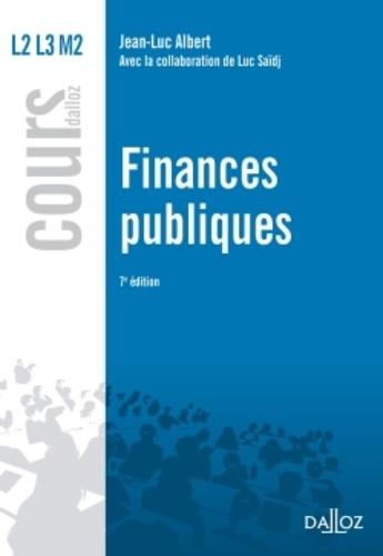 Luc Saïdj et Jean-Luc Albert - Finances publiques.