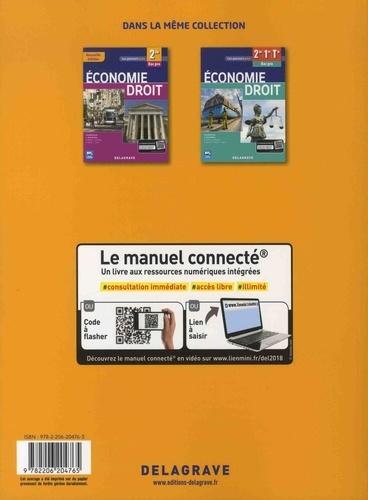 Economie droit 1re, Tle Bac Pro  Edition 2018