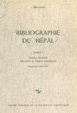 Luce Boulnois et H. Millot - Bibliographie du Népal (1.2) : Sciences humaines, références en langues européennes (supplément 1967-1973).