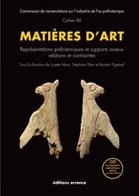 Lucette Mons et Stéphane Pean - Matières d'art - Représentations préhistoriques et supports osseux, relations et contraintes.