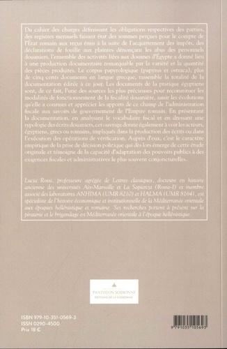 La fiscalité douanière dans l'Egypte romaine. Les documents de la pratique