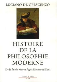 Goodtastepolice.fr Histoire de la philosophie moderne - De la fin du Moyen Age à Emmanuel Kant Image