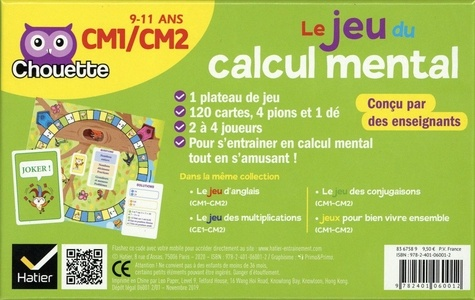 Le jeu du calcul mental CM1/CM2. Avec un plateau de jeu et 120 cartes